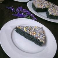 Black rice cake recipe / How to make black rice cake / Eggless black rice cake recipe