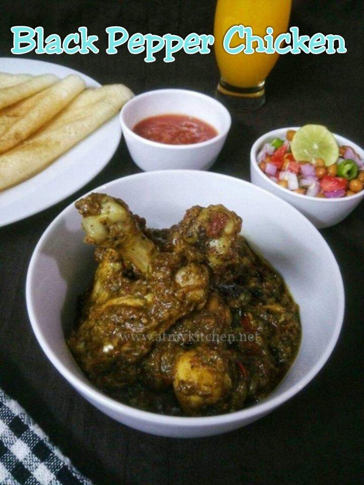 Black Pepper Chicken Recipe How To Make Black Pepper Chicken Kali