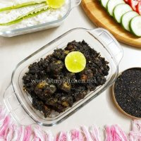 Dohneiiong recipe/ Pork with black sesame recipe/ Meghalayan black sesame pork recipe