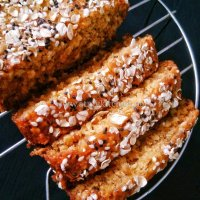 Banana Oats Loaf Cake / Whole Wheat Banana Oats Cake / Eggless Banana Oats Cake
