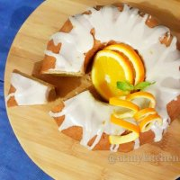 Glazed orange bundt cake recipe / Eggless orange bundt cake recipe / Eggless orange cake recipe
