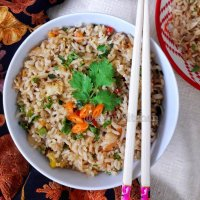 Egg Fried Rice / Easy Fried Rice / Vegetable Egg Fried Rice