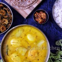 Mixed Dal With Egg And Potato / Anda Aloo Dal Tadka / Mixed Lentil Fry