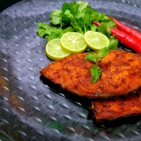 Shallow Fried King Fish / Vanjaram Meen Fry / Indian Pan Fried Fish