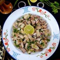 Dohkhlieh / Meghalayan Pork Salad / Doh Khleh /Boiled Pork Salad