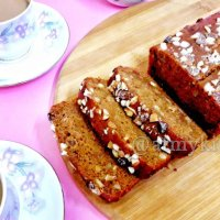 Whole Wheat Carrot Cake / Eggless Carrot Cake / Atta Carrot Cake
