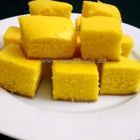 Custard powder cake recipe / Eggless custard powder cake recipe/ Eggless custard cake recipe
