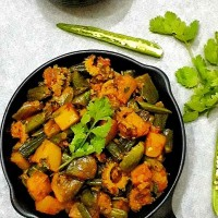 Mixed Vegetable Fry / Indian Mix Vegetable Sabji / Mixed Vegetable Poriyal