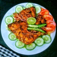 Tandoori chicken recipe / How to make tandoori chicken without tandoor/ Oven baked tandoori chicken recipe