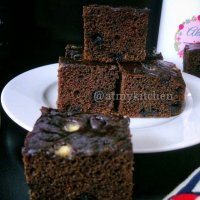 Double Chocolate Coffee Cake / Eggless Chocolate Coffee Cake / Whole Wheat Chocolate Coffee Cake