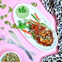 Bhut Jolokia Grilled Chicken / Spicy Grilled Chicken / Grilled Chicken With Raja Mircha Marinade