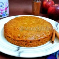 Apple Cinnamon Cake / Eggless Apple Cinnamon Cake / Easy Cinnamon Apple Cake