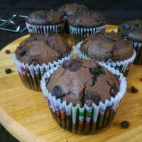 Double chocolate muffins/ How to make double chocolate muffins/ Eggless chocolate muffins