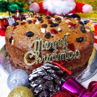 Eggless Christmas Cake Recipe / Rich Fruit Cake / Rum Fruit And Nut Cake