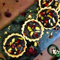 Black Rice Pudding Tartlets / Black Rice Kheer Tart / Rice Pudding Tartlets